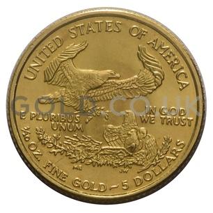 1986 1/10 oz Gold America Eagle