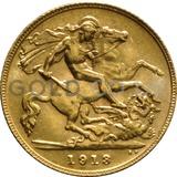 1913 George V Gold Half Sovereign (London Mint)