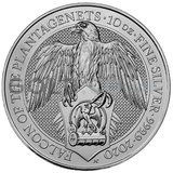 Silver The Falcon of the Plantagenets 10oz (2020)