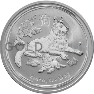 Silver Perth Mint Year of the Dog 2oz (2018)