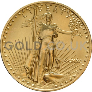 1990 1/2 oz Gold America Eagle