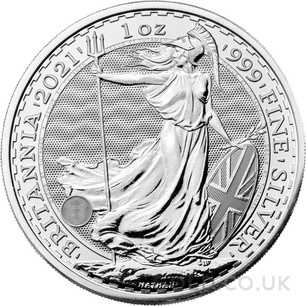 Britannia One Ounce Silver Coin (2021) - Gift Boxed