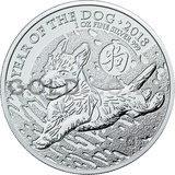 Silver 1oz Year of the Dog (2018)
