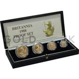 Proof Gold Britannia 4-Coin Box Set (1988)