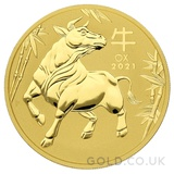 Gold Perth Mint Year of the Ox 2oz (2021)