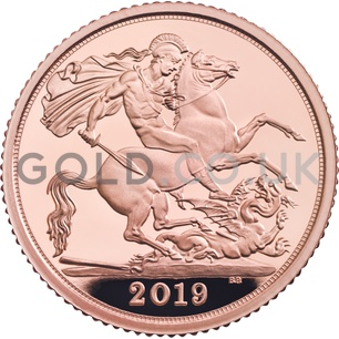 Gold Proof Half Sovereign Boxed (2019)