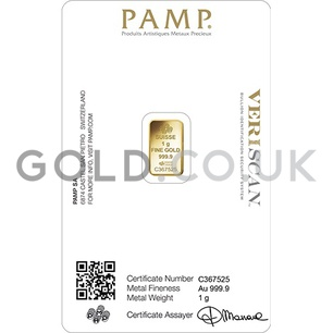 1g PAMP Gold Bar