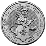 Silver White Lion of Mortimer, Queen's Beast 2oz (2020)