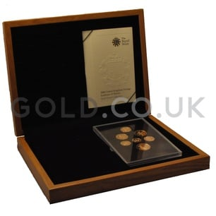Gold UK Coinage, Emblems Collection Boxed (2008)