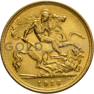 1916 George V Gold Half Sovereign (Sydney Mint)