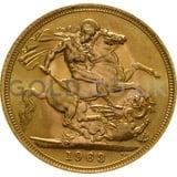 Gold Elizabeth II Sovereign (1963)