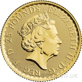 Quarter Ounce Gold Britannia Coin (2021) - Gift Boxed