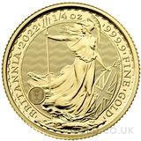 Quarter Ounce Gold Britannia Coin (2022)
