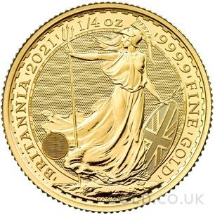 Quarter Ounce Gold Britannia Coin (2021)