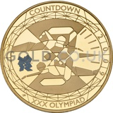 Gold Proof Five Pound - Countdown to London Olympics (Swimming) Coin (2009)
