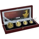 Proof Gold Britannia 4-Coin Box Set (2004)