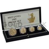 Proof Gold Britannia 4-Coin Box Set (1989)