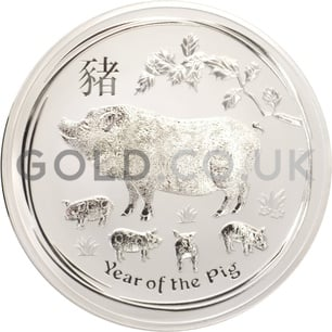 Silver Perth Mint Year of the Pig 1KG (2019)