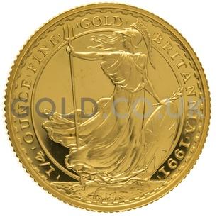 1991 Quarter Ounce Proof Britannia