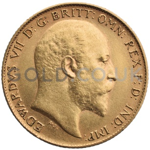 1908 Edward VII Gold Half Sovereign (Melbourne Mint)