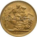 1909 Edward VII Gold Sovereign (Melbourne Mint)
