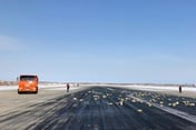 Russian cargo plane spills tonnes of gold on take-off