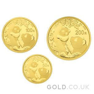 Three Coin Panda Set Gift Boxed (2021)