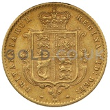1871 Victoria Young Head Shield Back Gold Half Sovereign (London Mint)