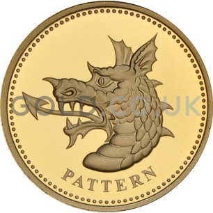 One Pound Gold Coin - Dragon of Wales (2004)