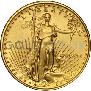 1989 1/10 oz Gold America Eagle