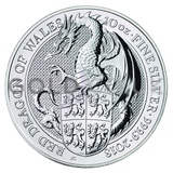 10oz Silver Coin - The Red Dragon (2017)