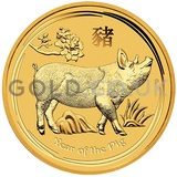 Gold Perth Mint Year of the Pig 1/4oz Gift Boxed (2019)
