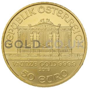 Gold Philharmonic Half Ounce Coin (2019)