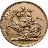 Gold Elizabeth II Sovereign (2015)