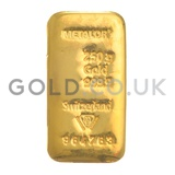 250g Metalor Gold Bar