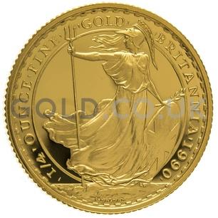 1990 Quarter Ounce Proof Britannia