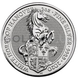 Silver White Horse of Hanover, Queen's Beast 2oz (2020)