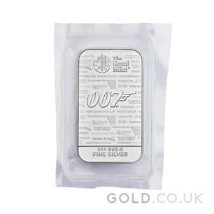 1oz James Bond Silver Bar