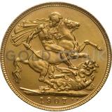 1907 Edward VII Gold Sovereign (London Mint)