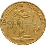 Gold 20 French Francs - Guardian Angel (Best Value)