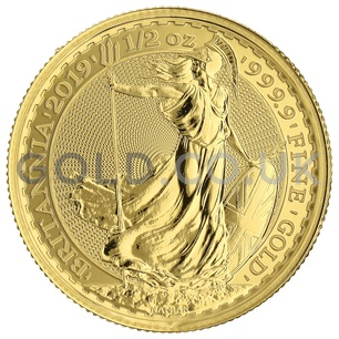 Britannia Half Ounce Gold Coin Gift Boxed (2019)