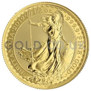 Britannia Half Ounce Gold Coin Gift Boxed (2019)