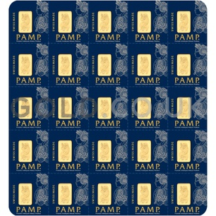 25 x 1g Gold Bars