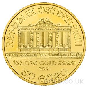 Gold Philharmonic Half Ounce Coin (2021)