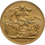 1913 George V Gold Sovereign (London Mint)