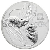 Silver Perth Mint Year of the Mouse 2oz (2020)