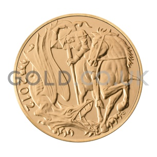 2012 Elizabeth II Fourth Head Gold Half Sovereign