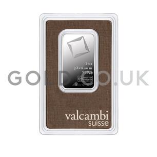 1oz Valcambi Platinum Bar