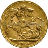 1913 George V Gold Sovereign (Perth Mint)