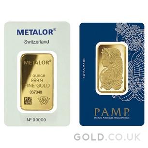 1oz Gold Bar (Best Value)